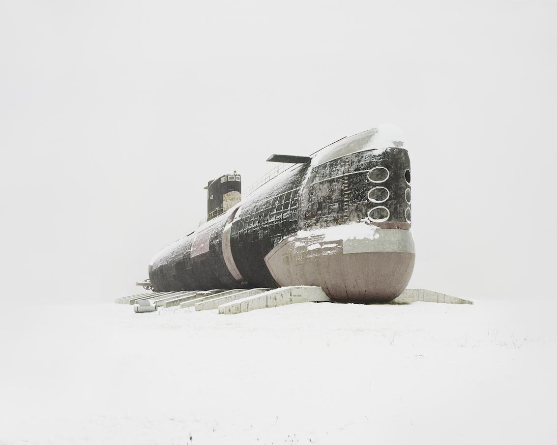 The world's largest diesel submarine. Russia, Samara region, 2013 Wallpaper