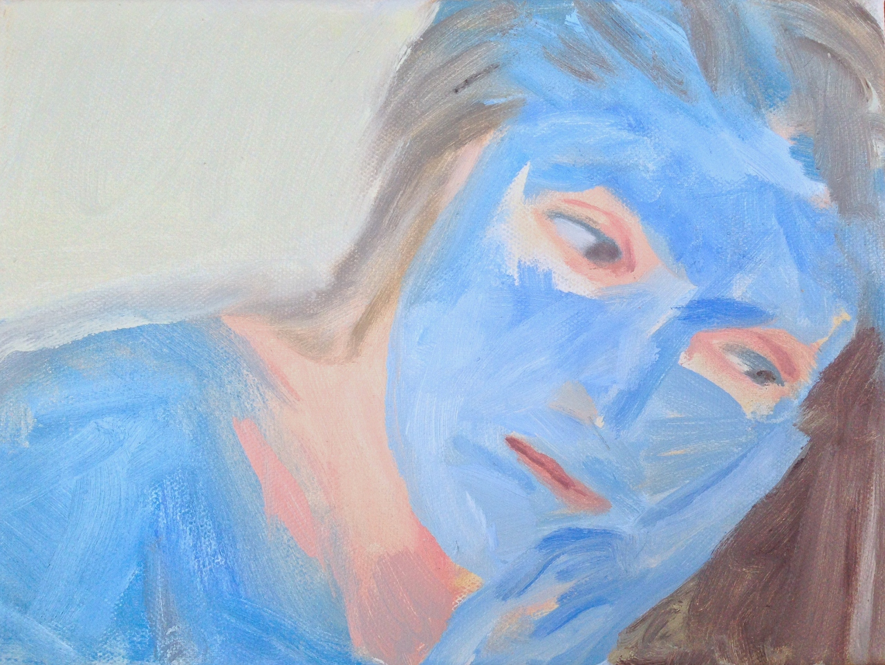 BLUE, 2014 / oil on canvas / 18 x 24 cm