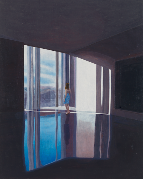 WINDOW ON THE WEST 2015 / oil on canvas / 125 x 100 cm