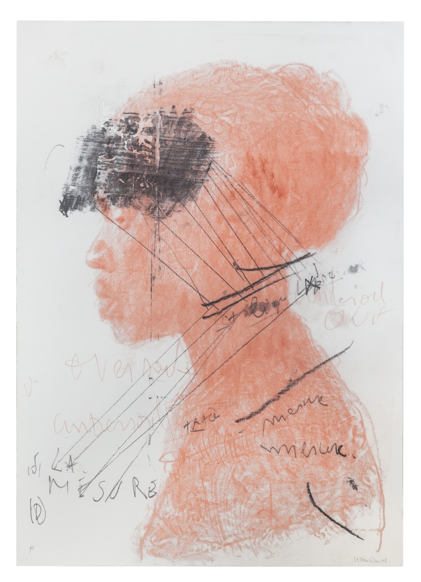 DIDIER MAHIEU / UNTITLED. 2016 / LITHOGRAPH FROM GRAPHITE DRAWING / 110 X 80 CM, FRAMED