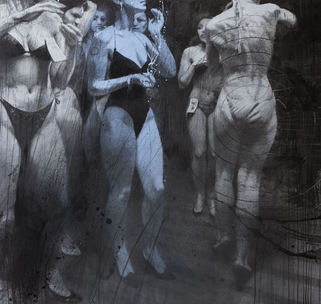 WAITING. 2014 / Graphite on canvas / 175 x 185 cm