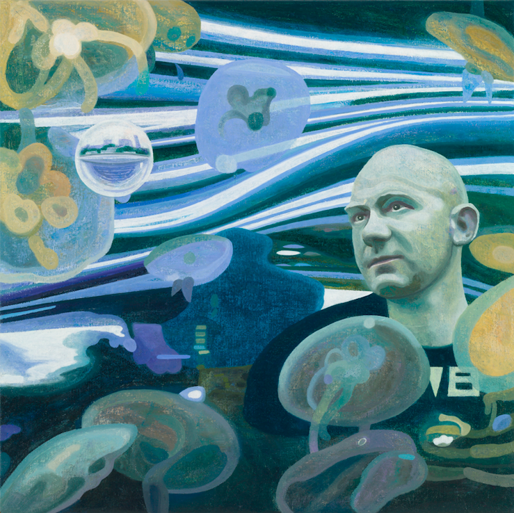Liquid City Blues 1, 2018, 80 x 80 cm, oil on canvas