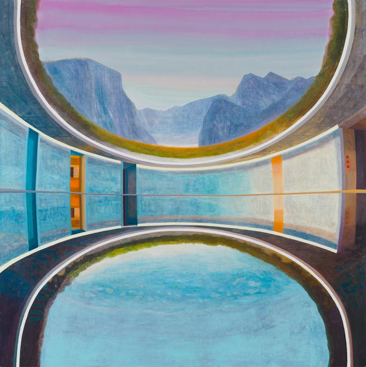 The Forbidden Pool, 2018, 190 x 190 cm, oil on canvas