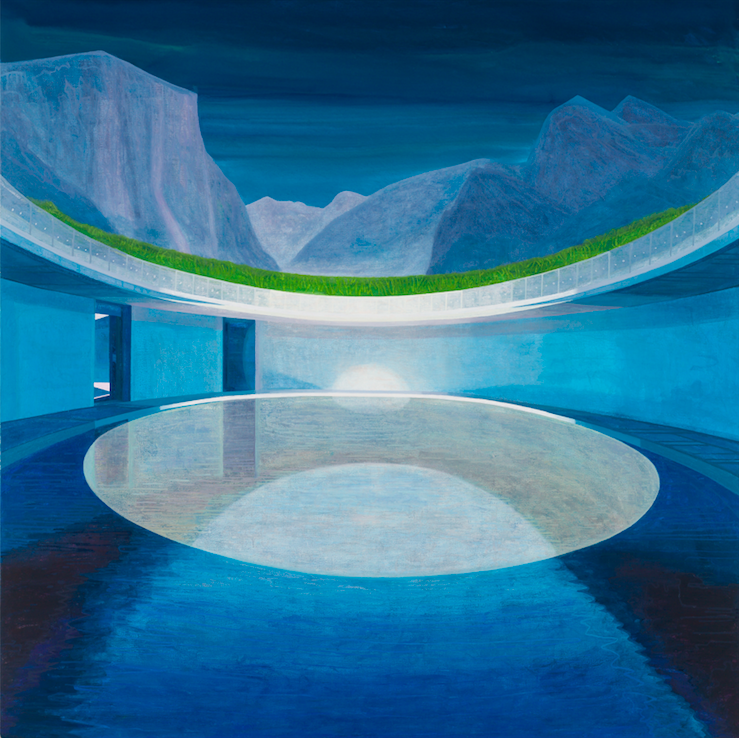 The Forbidden Pool 1, 2018, 190 x 190 cm, oil on canvas