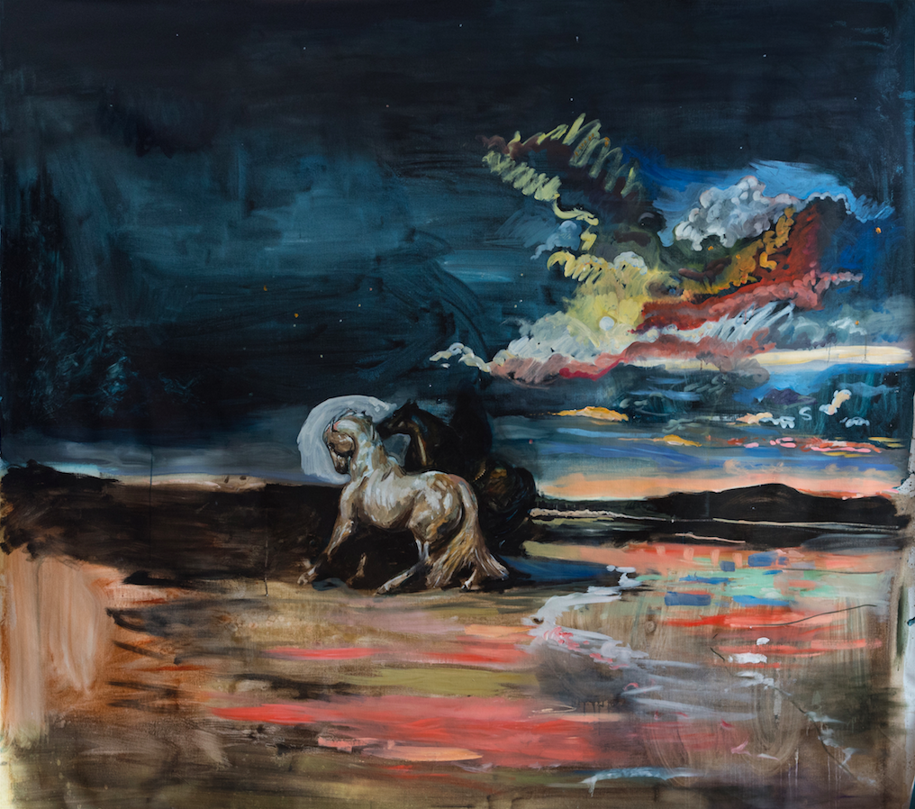 Horse Thieves (After Delacroix) 2018, 230 x 211 cm, oil on canvas