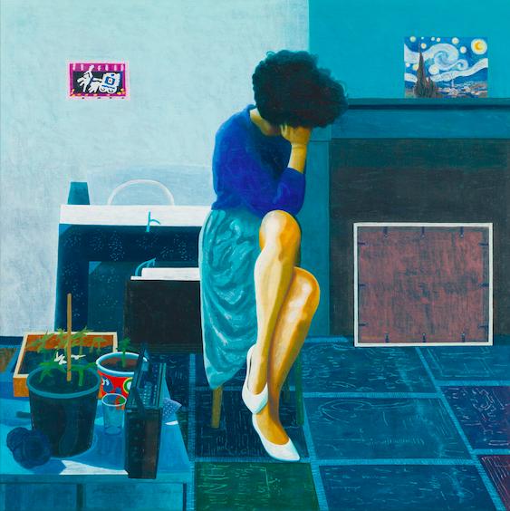 Christina 5, 2017, 150 x 150 cm, oil on canvas