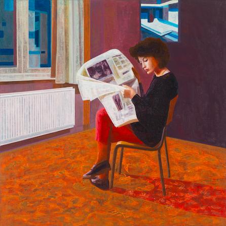 Christina 8, 2017, 80 x 80 cm, oil on canvas