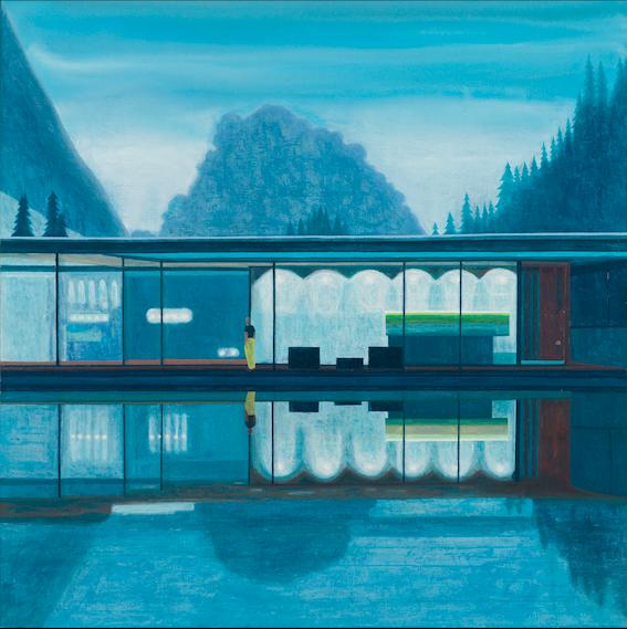Friedrich's Dream 3, 2018, 125 x 125 cm, oil on canvas