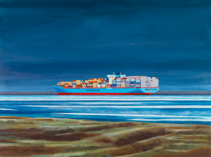The Maersk Experience 1, 2016, 142 x 190 cm, oil on canvas