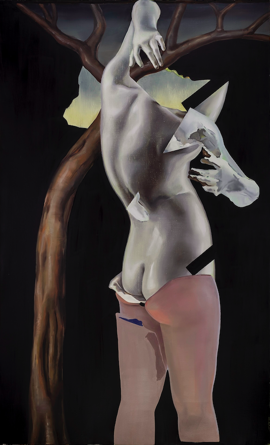 'Ode aan Cranach', 2014, 180 x 110 cm, oil on canvas