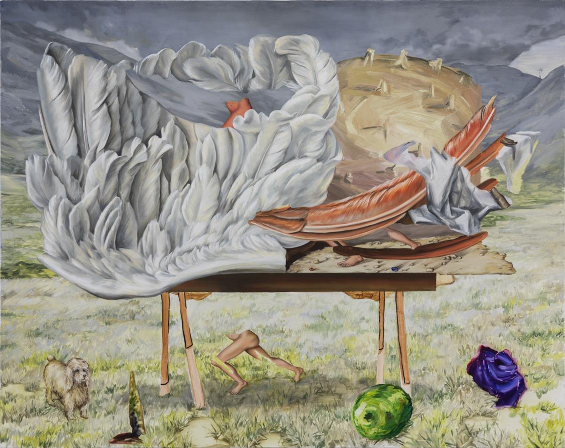 Lichtbewolkt 2019 110 x 140 cm  Oil on canvas
