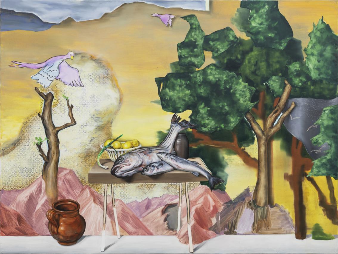 De Vangst 2019 75 x 100 cm  Oil on canvas